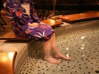 下呂温泉街の足湯