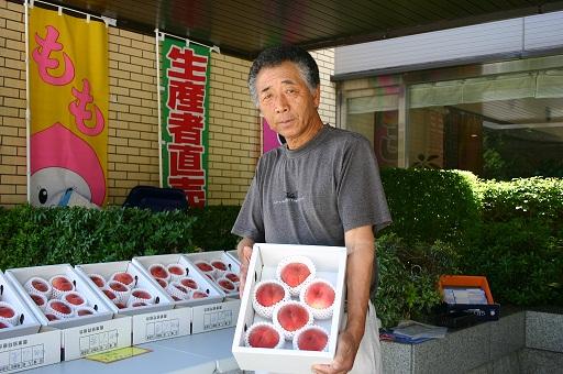 夏のフルーツ試食販売